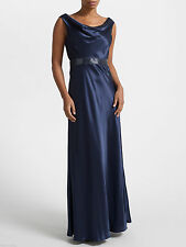 NEW * JOHN LEWIS * MIDNIGHT BLUE MAXI EVENING DRESS SZ 18 RRP £195