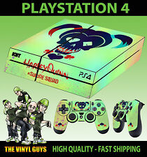 PS4 Skin Suicide Squad Harley Quinn Painted Logo Sticker + Pad decal Vinyl LAID