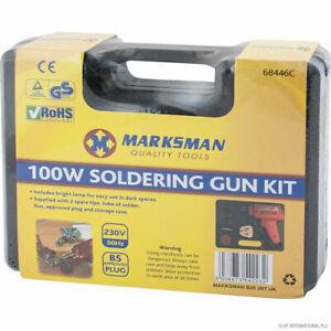 100W SOLDERING GUN KIT SOLDERING IRON SET IN BLOW CASE