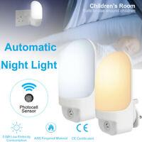 Automatic Lighting Sensor Night Light Wall Lamp Control for Kids bedroom Plug-In