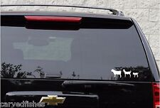 Nubian goat family decal set in 7 colors