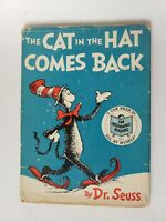 """Dr. Seuss """"The Cat in the Hat Comes Back"""" 1ST Edition 1958 HC/DJ  LOOK!"""