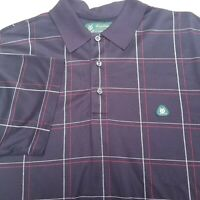 BROOKS BROTHERS Mens Polo St Andrews Links Golf  Large Logo Shirt Short Sleeve