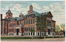 Postcard West Side High School in Waterloo, Iowa~106720