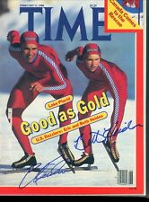 ERIC BETH HEIDEN GOLD MEDALIST TIME MAGAZINE signed autographed