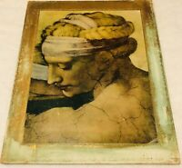 Vintage Wooden Italian Picture Lightweight Wood Shabby Chic Style Super Charming