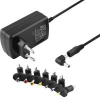 Universal Netzteil Ladegerät Winkel 1,5A 230 Volt IN auf 9 12 15 18 20 24 V OUT