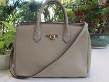 NEW - Ladies enuine Cow Leather Handbag - Apricot - see photos