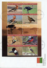 Madagascar 2019 FDC Birds of Africa Hoopoes Cranes Ostrich 8v M/S Cover Stamps