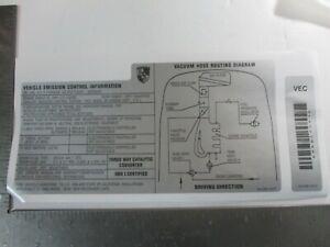 PORSCHE 968 ENGINE BAY EMISIONS VACUUM DATA DECAL NEW GENUINE PORSCHE 1995 ONLY