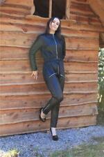 Lederoverall Leder Catsuit Overall Schwarz  Größe XL 48 Jumpsuit Lamm-Nappa 417