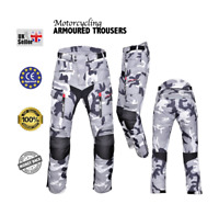 Motorbike Motorcycle  CAMO Trousers Cordura CE approved Armour Waterproof