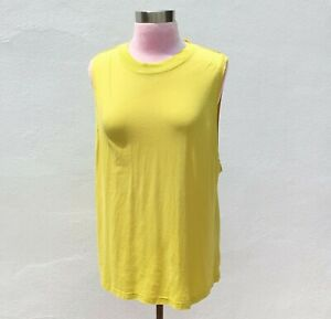 LULULEMON Women's All Yours Boyfriend Tank Top Muscle T-Shirt Soleil/Yellow Sz.M