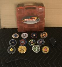 Beyblade Metal Masters Case & Lot of 12 Spinners