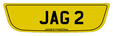 JAGUAR XF TYPE V2  REAR SHAPED NUMBER PLATES 615 X 175MM HAND MADE ROAD  LEGAL