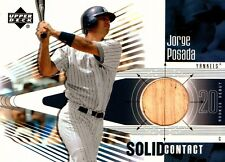 2002 Upper Deck Rookie Debut Solid Contact #SC-JP Jorge Posada