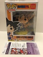 JSA COA SIGNED Dragon Ball Funko Pop: GOKU & FLYING NIMBUS! Sean Schemmel/gold