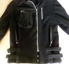 Veste blouson perfecto multi-poches noire cachemire BILL TORNADE. T38