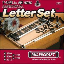 "Milescraft 2202 1 1/2"" Horizontal Character Template Set"