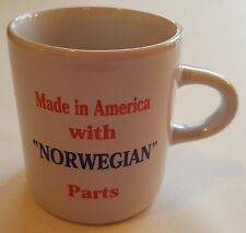"""Children's Child Mug Small Cup - Made in America with """"NORWEGIAN"""" Parts NEW!"""