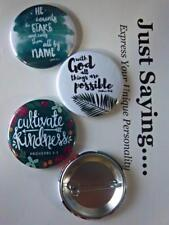 Christian Theme 3-pk Novelty Buttons/Pins: With God all things are possible.