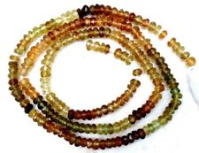 """PETRO TOURMALINE 3-3.5mm Micro FACETED Rondelle 14""""str"""