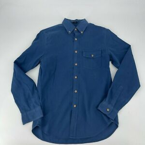 J.Crew Shirt Mens Size Small S Blue Chambray Button Down Slim Fit Long Sleeve