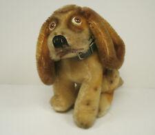 Steiff Basset Hound Dog 14 cm original collar EAN 3314,00 1961 - 1963
