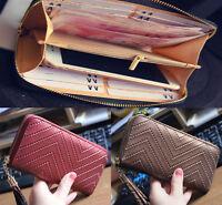 new Long leather PU Women clutch Purse Wallet Card Holders Handbag phone bag