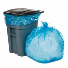 Plasticplace 65 Gallon Recycling Bags - Blue, case of 100 bags