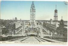 c1905 Coney Island New York View of Dreamland (added silver glitter)