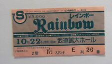 RAINBOW  TICKET   TOKYO 1982  22nd october  (pink/blue)