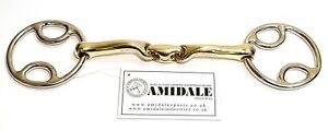 Amidale Equestrian Bevel Loop Ring Wilkie Lozenge Horse Snaffle Bit Bnwt