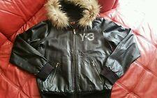 NEW!100%AUTHENTIC!Y-3 Yohji Yamamoto Leather bomber jacket VERY RARE $1200