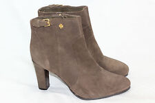 58930c2c5ad TORY BURCH Suede Milan Bootie Double T Logo Detail Boots Size 11 Olive NEW  (S82
