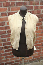 "pale ""beige"" Suede Gilet style jacket small (washable)  Body warmer style"