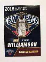2019 Zion Williams NBA Limited Edition Rookie Card New Orleans Pelicans