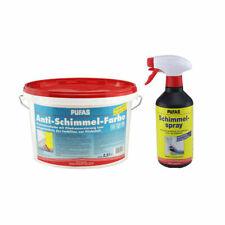 Antischimmelset: Pufas Antischimmelfarbe 2,5 Liter + Pufas Schimmelspray 0,5 Lit
