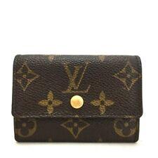Authentic Louis Vuitton Monogram Porte Monnaie Plat Coin Purse Wallet /ee585