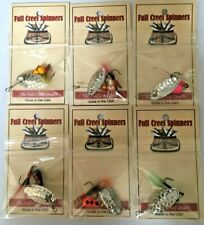 Inline Trout Crappie Bass Spinner American Made Hammered Nickel Blades 3/16 OZ