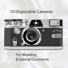 10 x Disposable Camera Retro Vintage Black Wedding flash 27exp with table cards