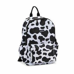 Mini Cow Print Backpack for Women and Girls (12.6 x 23.8 x 5)
