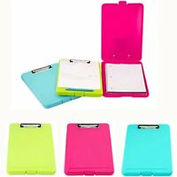 3pk Letter Size Plastic Storage Clipboards Pink Teal Neon Green Document Holder