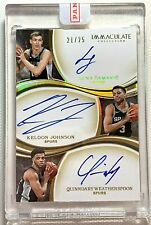 2019-20 IMMACULATE KELDON JOHNSON LUKA SAMANIC WEATHERSPOON 3 AUTO RC SP #21/25