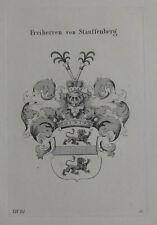 1844 emblema de Stauffenberg Baviera grabado tyroff