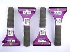 (3,20 €/unidad) 4x raspador con hoja de latón goma labio lila con mango Soft