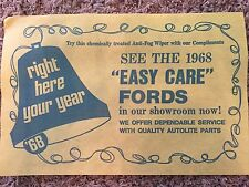 1968 NOS Ford Autolite Showroom Anti-Fog Wiper Compliment Shelby Mustang