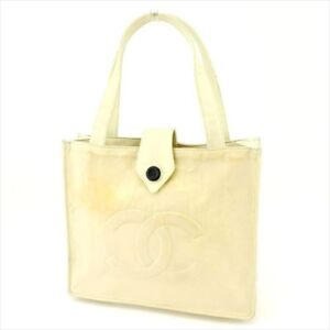 Chanel Tote bag COCO Beige Nylon Woman Authentic Used T4369