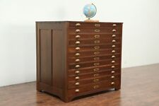 Map Chest, Antique 12 Drawer Drawing File or Collector Cabinet #29061