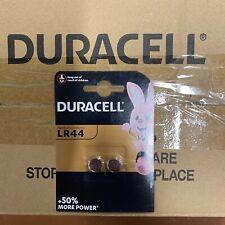 100 DURACELL LR44 1.5V ALKALINE CELL BATTERY A76 AG13 SR44 GPA76 Longest Expiry